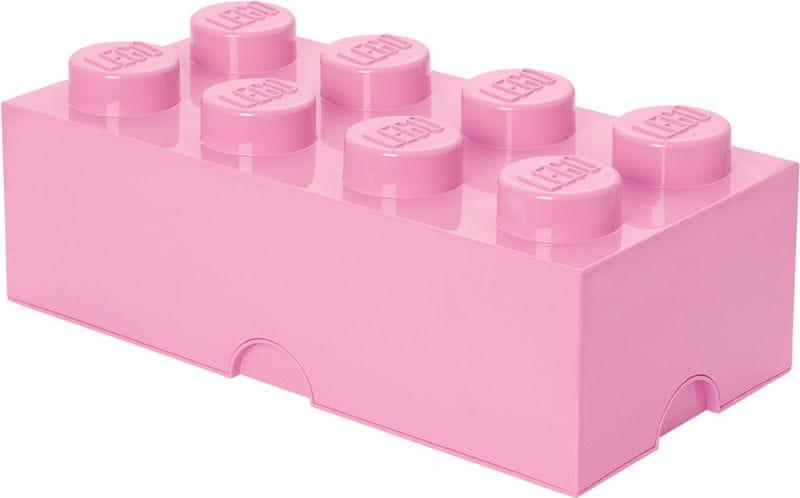 LEGO® Storage box 25x50 cm, světle růžová
