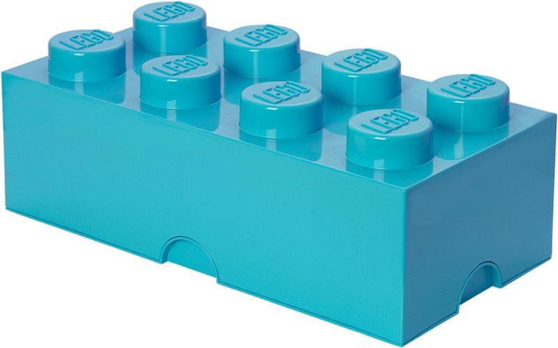 LEGO® Storage box 25x50 cm, azurová