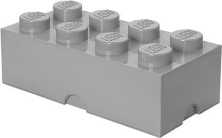 LEGO škatla za shranjevanje, 25x50 cm, siva