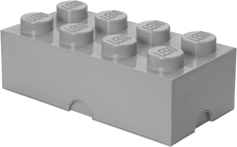 LEGO® Storage box 25x50 cm, šedá