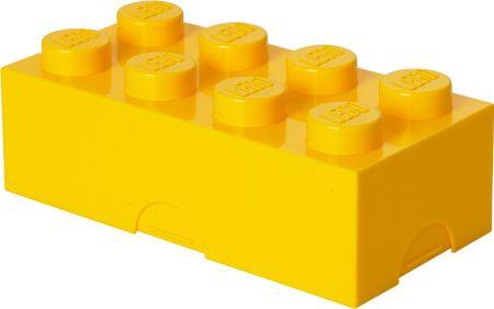 LEGO škatla za malico 10 x 20 x 7,5 cm, rumena