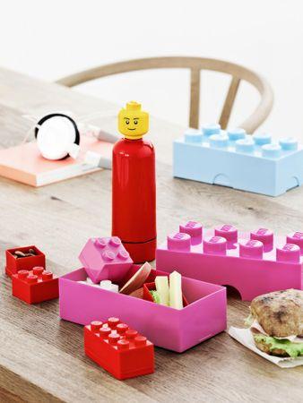 LEGO škatla za malico 10 x 20 x 7,5 cm, temno zelena