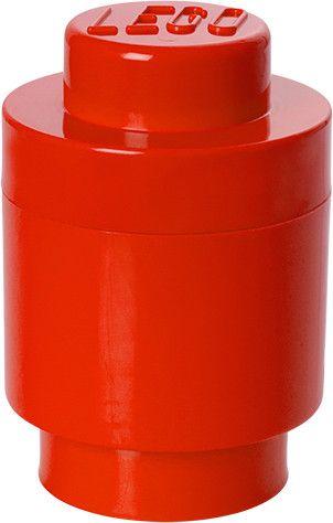 LEGO® Úložný box kulatý ø12 x 18 cm červená
