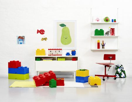 LEGO Úložný box kulatý ø12 x 18 cm modrá