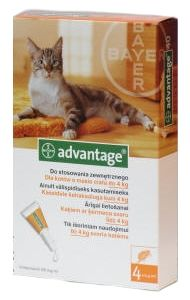Bayer ADVANTAGE Spot-on Cat 4x0,4ml (pro kočky do 4kg)