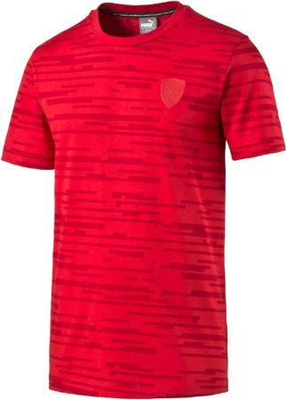 Puma koszulka męska Ferrari Allover Tee Rosso Corsa L