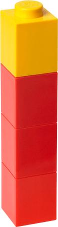 LEGO® Láhev na pití čtvercová červená