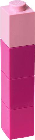 LEGO® Láhev na pití čtvercová růžová