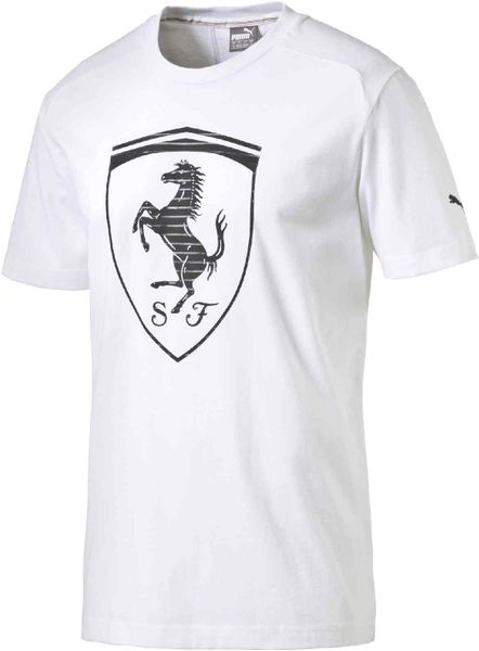 Puma Ferrari Big Shield Tee White L