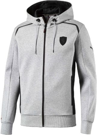 Puma bluza z kapturem Ferrari Hooded Sweat Jacket light gray L