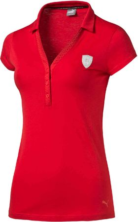 Puma koszulka damska Ferrari Polo Rosso Corsa S