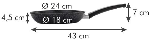 Tescoma ponev FineSTONE, 24 cm