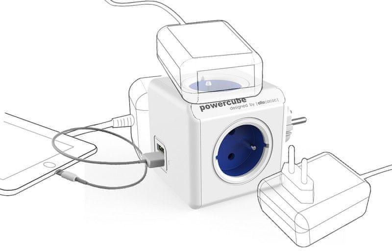PowerCube Original USB, modrá