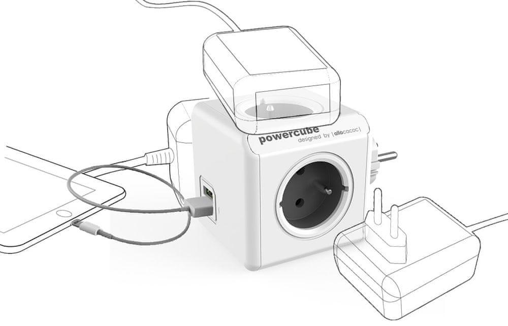 PowerCube Original USB, šedá - zánovní