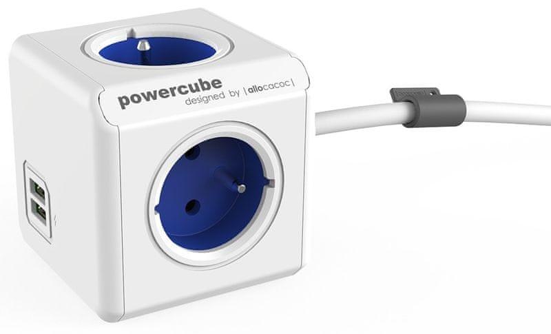 PowerCube Extended USB, modrá, 1,5 m