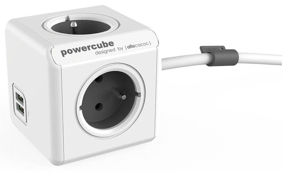 PowerCube Extended USB, šedá ,1,5 m