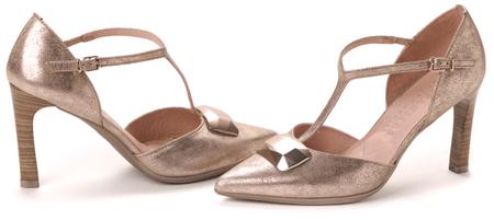 Hispanitas női magassarkú cipő 38 arany