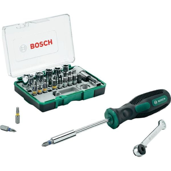 Bosch 28 dílný set s ráčnou