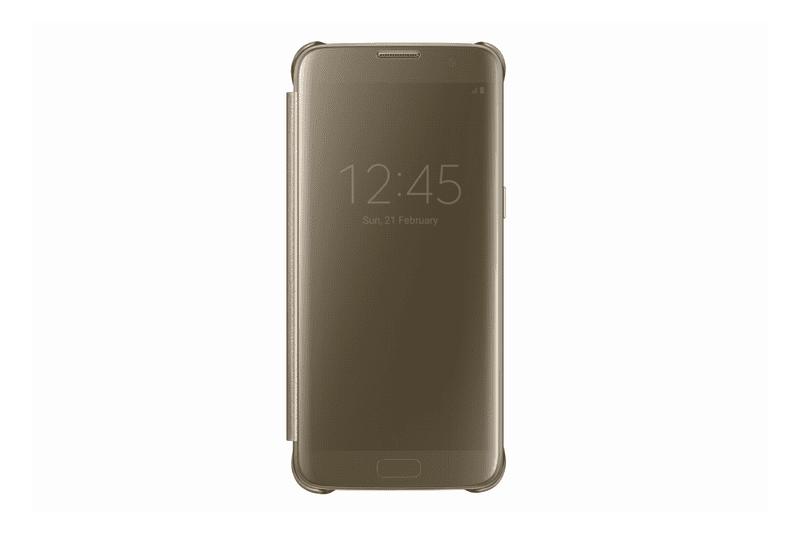 Samsung flipové pouzdro Clear View, Galaxy S7 EDGE, zlaté - II. jakost