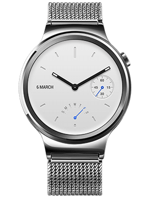 Huawei Watch W1, Stainless Steel with Stainless Steel Mesh Band - II. jakost