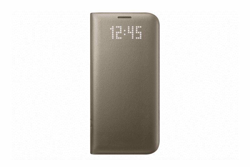 Samsung flipové pouzdro View Cover, Galaxy S7, zlatý