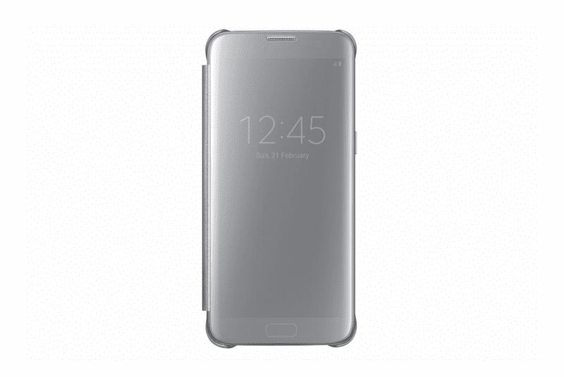 Samsung flipové pouzdro Clear View, Galaxy S7 EDGE, stříbrné