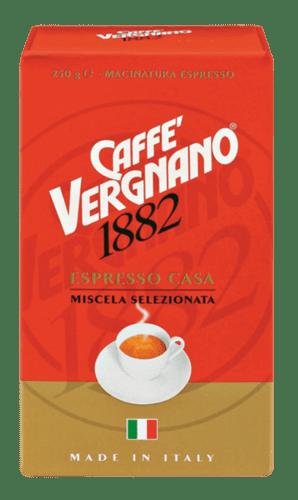 Vergnano Espresso Casa mletá káva 4 x 250 g