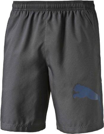 Puma moške hlače Pt Ess Dry Branded Wvn Short, sive, S