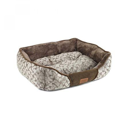Akinu pasja postelja, rjava, XS