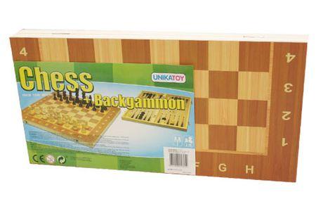 Unikatoy leseni šah 2v1 24625, 39x39 cm