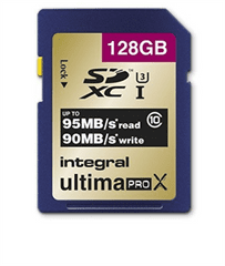 Integral spominska kartica 128GB SDXC UltimaPro X CLASS10 95MB