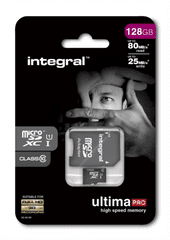 Integral spominska kartica 128GB Micro SDXC class10 80MB/s + adapter