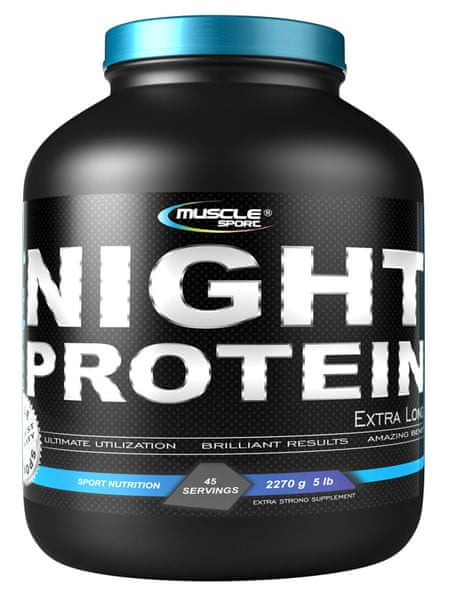 Musclesport Night Extralong Protein 1135g jahoda