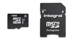 Integral spominska kartica 16GB Micro SDHC class10 90MB/s + adapter