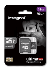 Integral memorijska kartica 32GB MicroSDHC class10 90MB/s + adapter