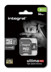 Integral spominska kartica 8GB Micro SDXC class10 80MB/s + adapter