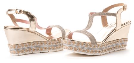 VITTI LOVE dámské sandály 39 zlatá