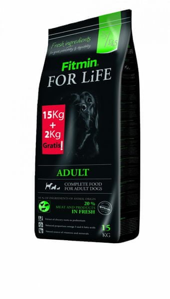 Fitmin For Life Adult 15 kg + 2 kg Zdarma