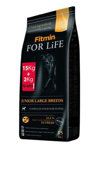 Fitmin For Life Junior Large Breed 15 kg + 2 kg Zdarma