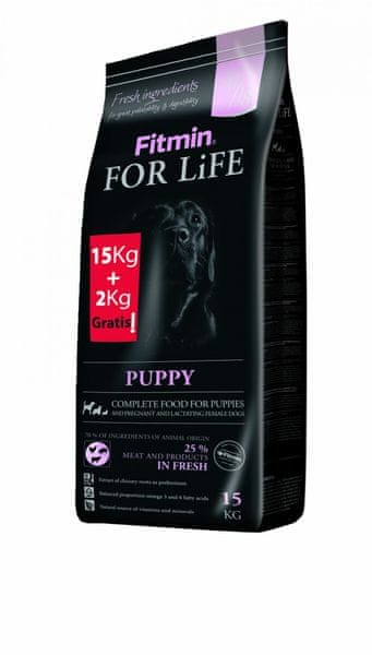 Fitmin For Life Puppy 15 kg + 2 kg Zdarma