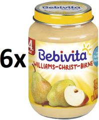 Bebivita Hrušky Williams-Christ - 6x190g