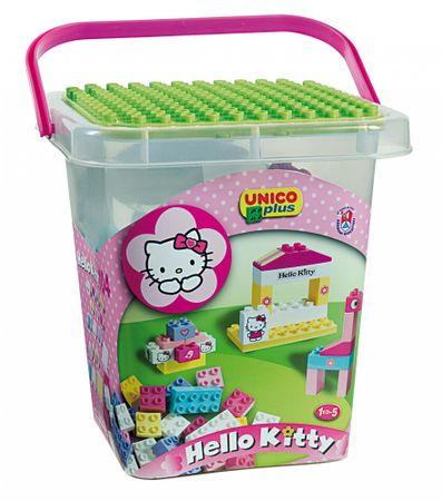 Unico Hello Kitty Építőkocka szett vödörben, 104 db