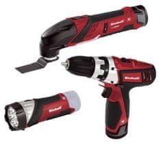 Einhell set aku bušilica, multifunkcionalni alat, LED svjetiljka TE-TK 12 Li (4257191)