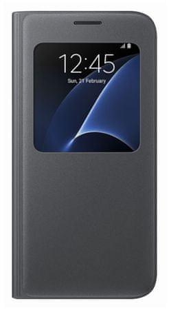 Samsung torbica S-View za Galaxy S7 Edge, črna (EF-CG935PBEGWW)