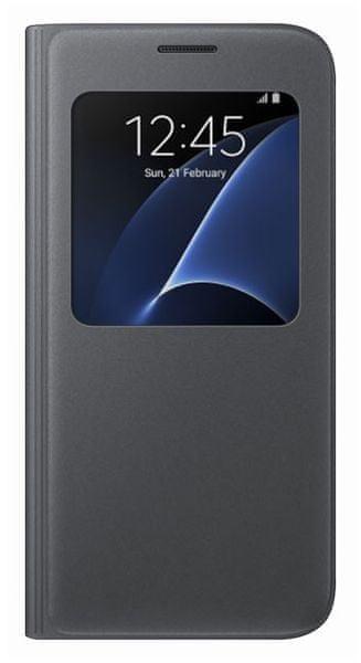 Samsung flipové pouzdro S-view, Galaxy S7, černá