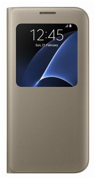 Samsung flipové pouzdro S-view, Galaxy S7 EDGE, zlatý