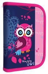 Karton P+P Kihajtható tolltartó, Happy Owl