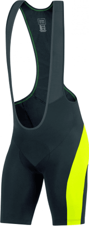 Gore Element Bibtights Short+ Black/Neon Yellow M