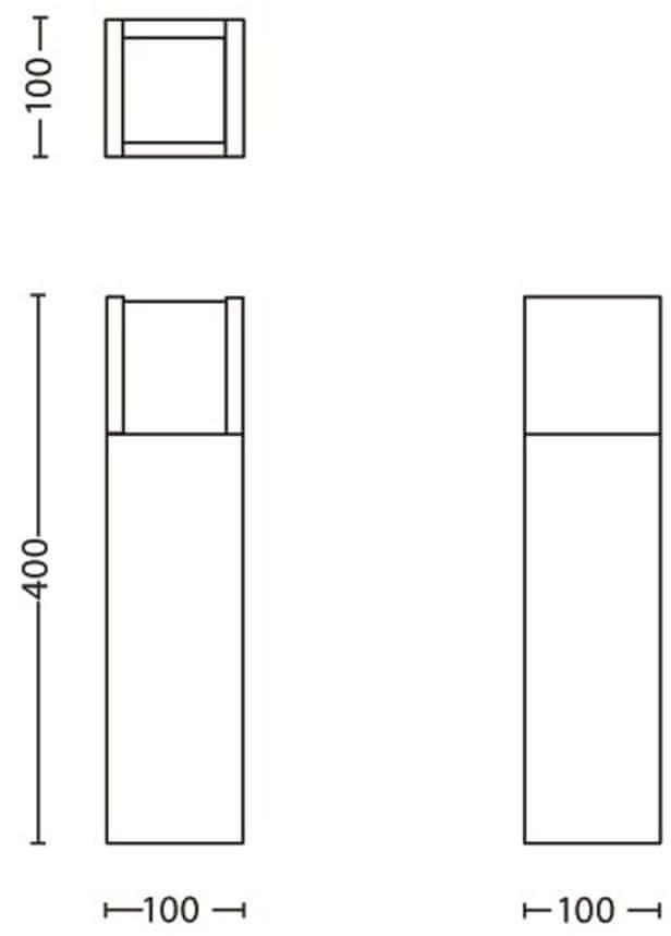 Philips Sloupkové LED svítidlo Arbour 16462/93/16