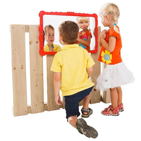 CUBS Zrcadlo k dětskému hřišti červená